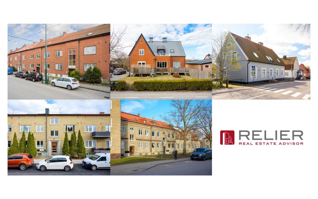Paket om fem bostadsfastigheter i Landskrona sålda och tillträdda.